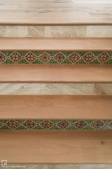 Solid Treads with Spanish Tile - 1